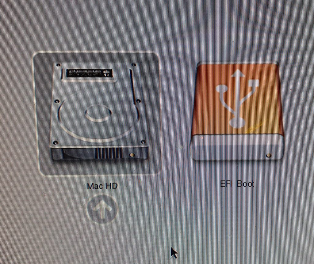 close up photo of iMaHD or EFI Boot