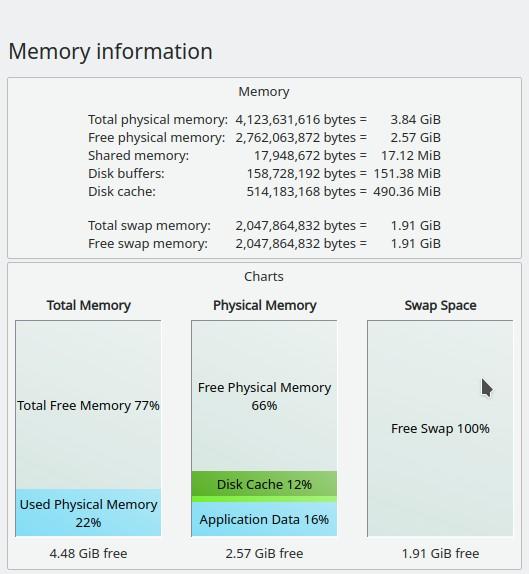 Memory information window